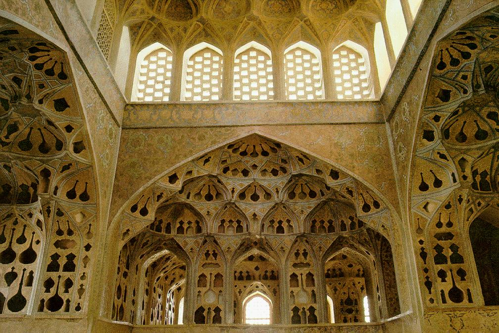 Music Room in Ali Qapu, Isfahan, Iran