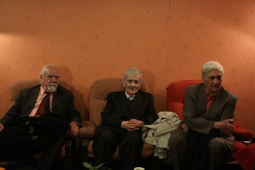 Ostad Nasrollah Nasehpour (Vocalist), Ostad Mansour Nariman (Master of Persian Oud), and Ostad Hooshang Zarif (Master of Persian Tar)